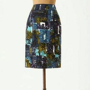 Anthropologie 'Liquid Acres' Pencil Skirt 2